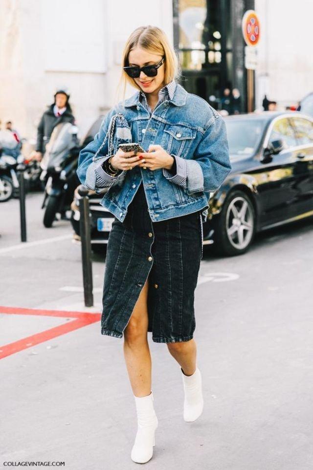 20 Street styles για να Φορέσεις το Denim Jacket σου την Άνοιξη