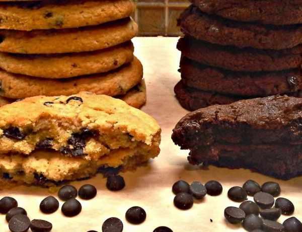 Συνταγή για νηστίσιμα Κούκις Βανίλιας και σοκολάτας
