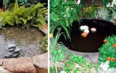 Φτιάξτε μια Τεχνιτή Λίμνη στον Κήπο σας με Παλιό Λάστιχο