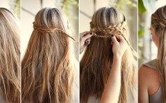 εύκολα χτενίσματα τελευταίας στιγμής για Μακριά μαλλιά