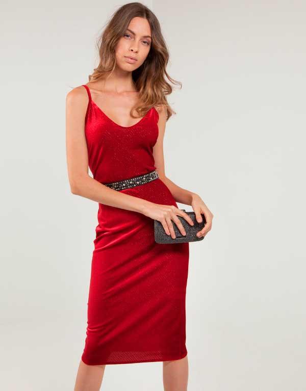Midi velvet touch dress