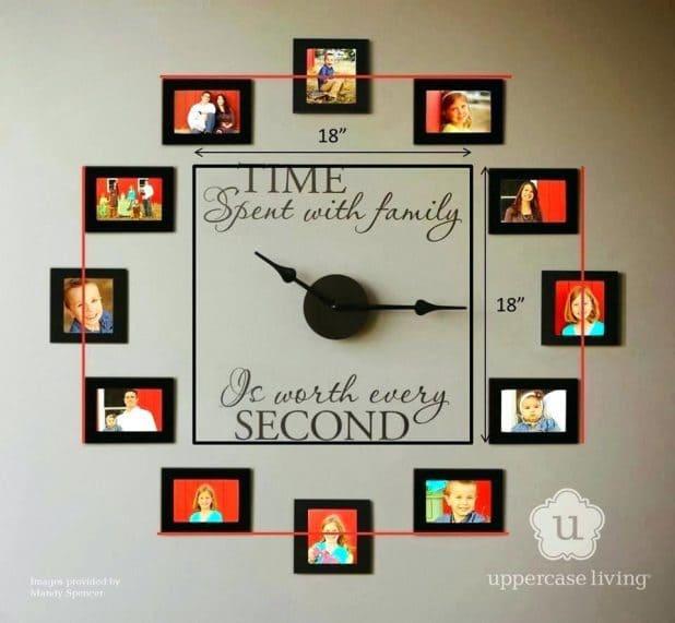 Κορνίζες σε ρολόι