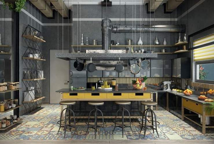 industrial home style