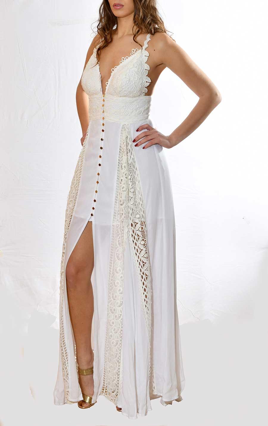 Μακρύ αέρινο φόρεμα για γάμο 2018