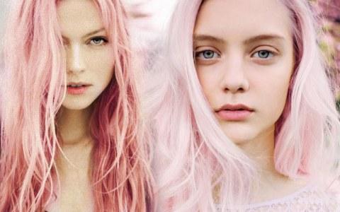 ροζ βαφή μαλλιών
