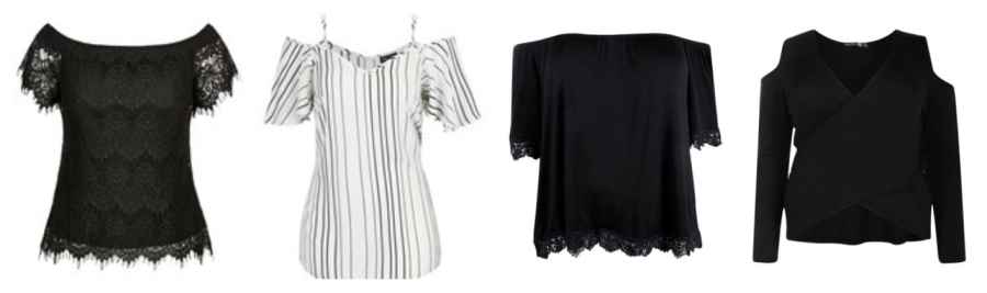 off the shoulder boohoo city chic plus size fashion style