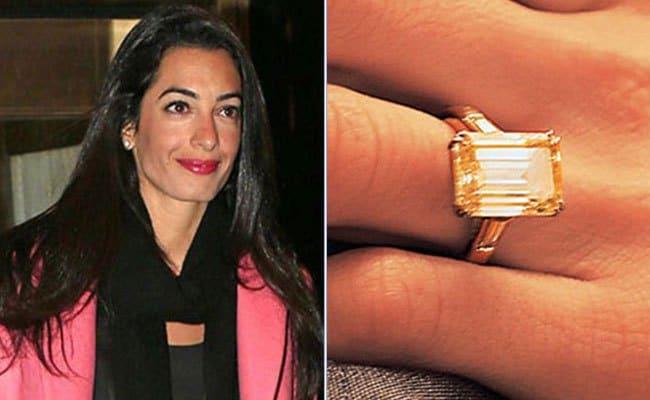 Amal+Alamuddin+engagement+ring