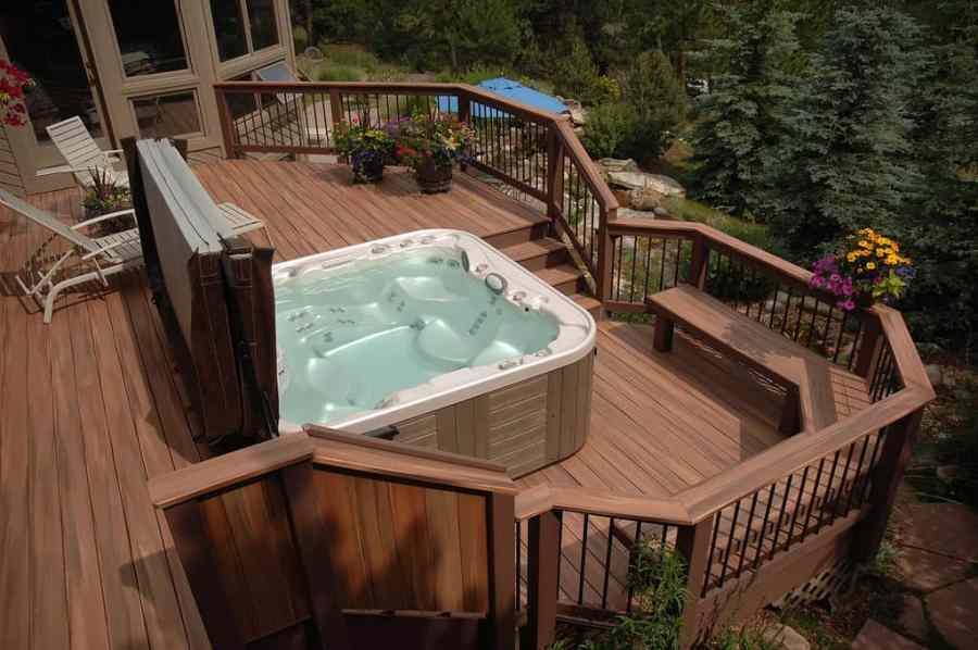 deck garden area