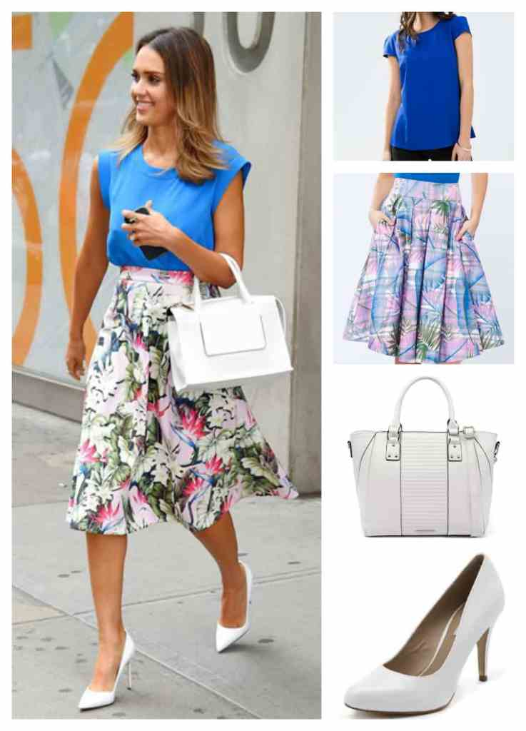 Jessica alba skirt outfit