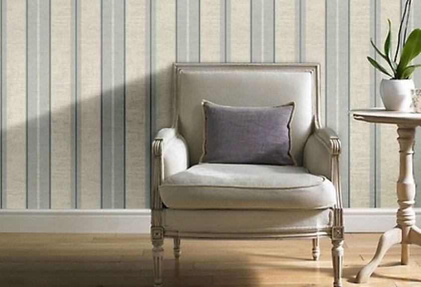 striped-wallpaper-lounge-chair
