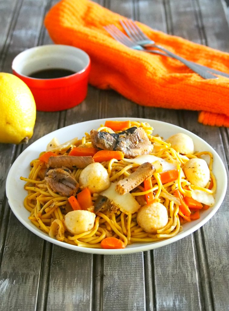 This recipe for Filipino Style Pancit Canton with sardines gives you a tasty and satisfying plate of noodles while putting your canned sardines to good use!