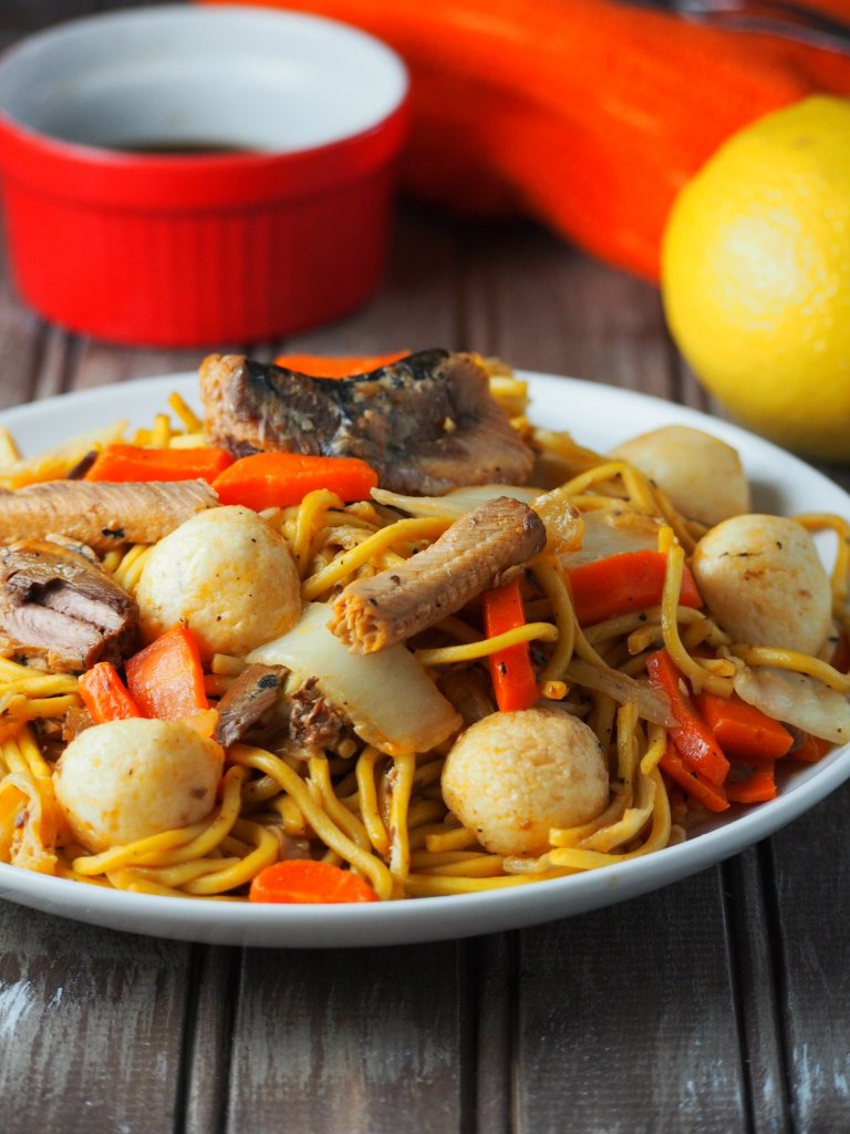 This pancit canon recipe is an easy variation to cook the traditional Filipino pancit canton. It is easy, flavorful and delicious.
