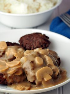 Burger Steak Recipe with Mushroom Gravy