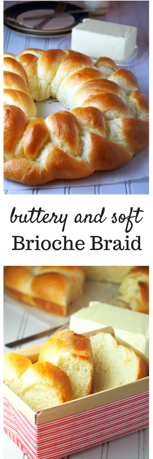 A Brioche braid that is soft and fluffy and perfect on its own or with a pat of butter.