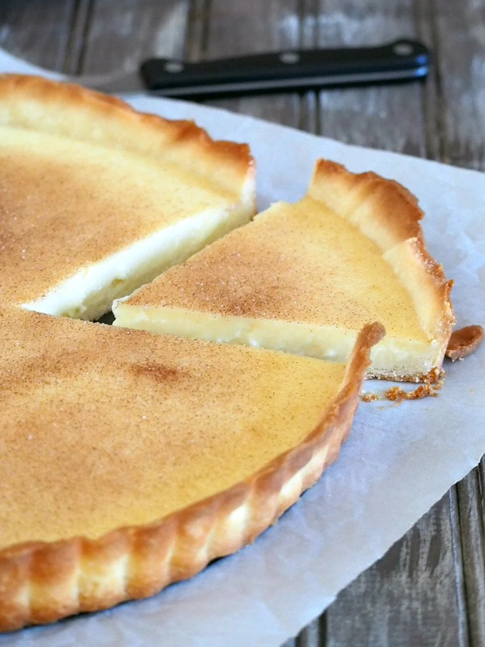 Milk Tart is a simple but delicious dessert that hits just the right spot of sweetness, creaminess and richness with it's milk custard filling.