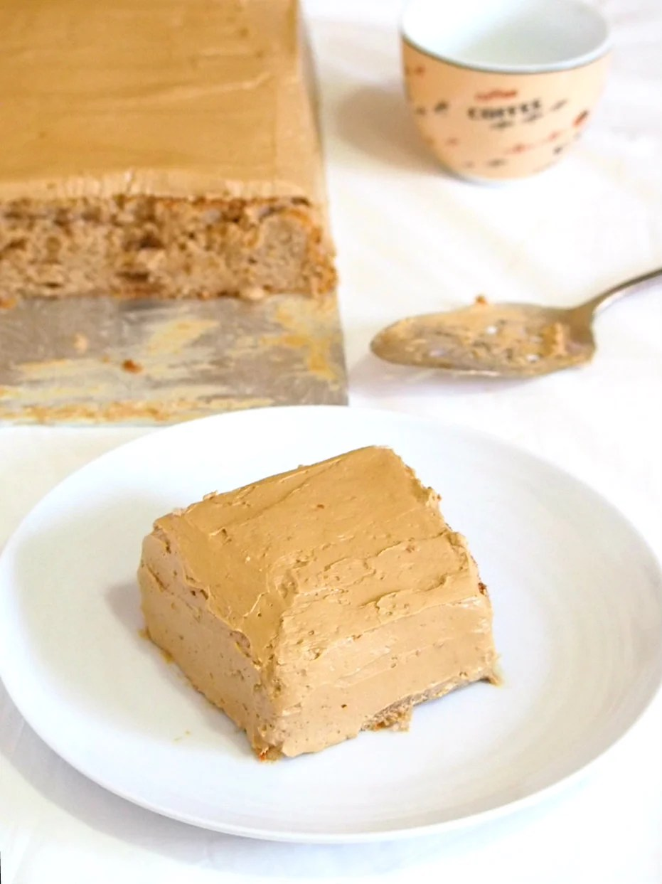 Enjoy a perfect blend of bitter and sweet in this mocha cake that is a soft and moist chiffon, and is deliciously infused with coffee.