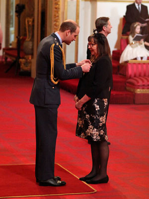 Anne Wilson of Numill with the Duke of Cambridge at her investiture