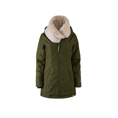 Wombat Wallaby babywearng and maternity jacket green with detachable collar