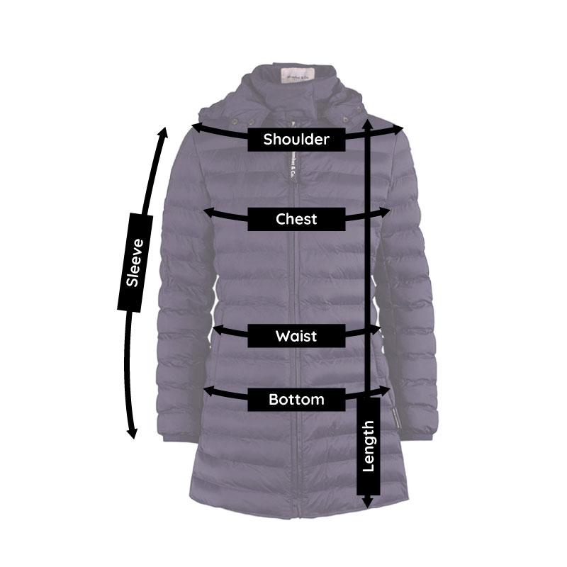 Kowari pregnancy and babywearing jacket size guide