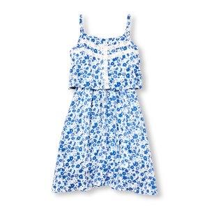 שמלה בגווני כחול לבן לבנות