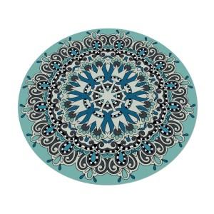 שטיח וניל עגול מעוצב מדגם מנדלה