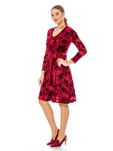 שמלה אקזוטית אדומה רעומה זקש
