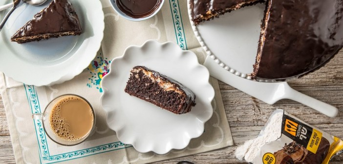 עוגת שוקולד עם שכבת קוקוס כשרה לפסח