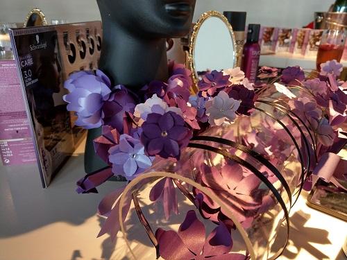 קשתות לשיער עם פרחים מנייר בעבודת יד