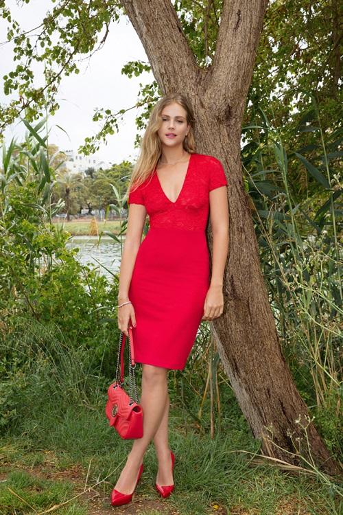 שמלה אדומה גולברי קיץ 2018