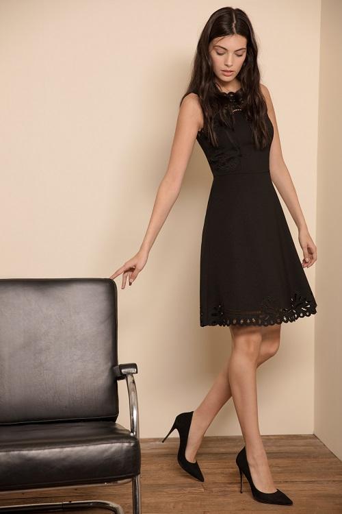 שמלה שחורה קצרה לאירועים GOLBARY