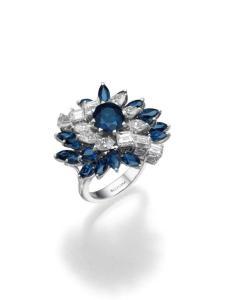 טבעת יהלומים ואבני חן מבית בלום תכשיטים