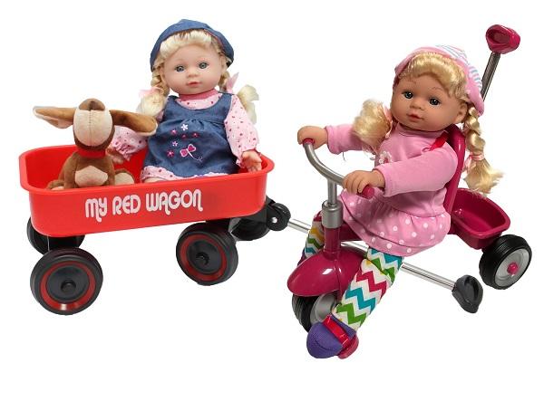 בובות על כלי חחבורה - תלת אופן ועגלה, במותג קיד קונספט