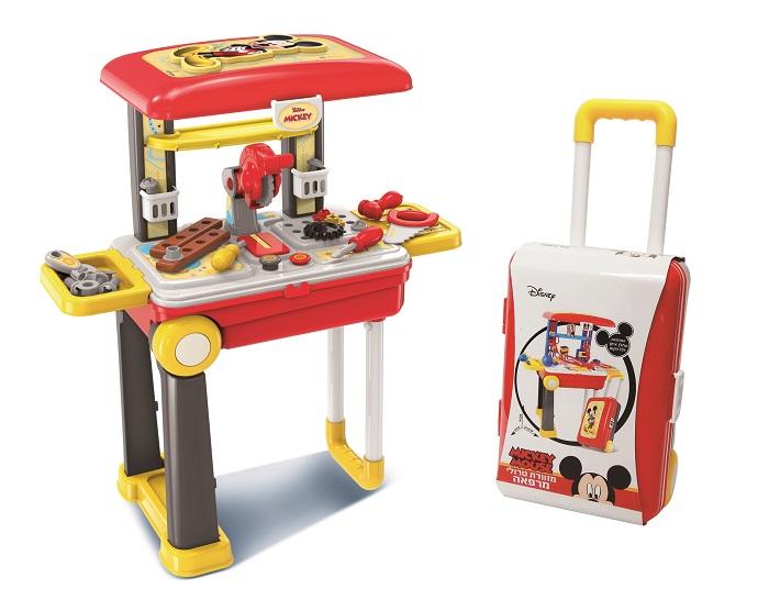 ב.ש צעצועים - מזוודת טרולי שהופכת לעמדת משחק מרהיבה