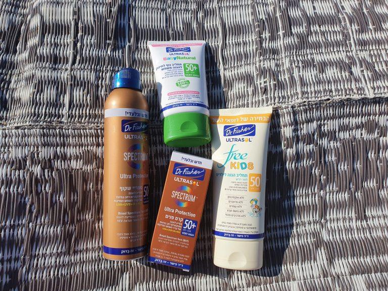 """מוצרי ד""""ר פישר להגנה מהשמש"""