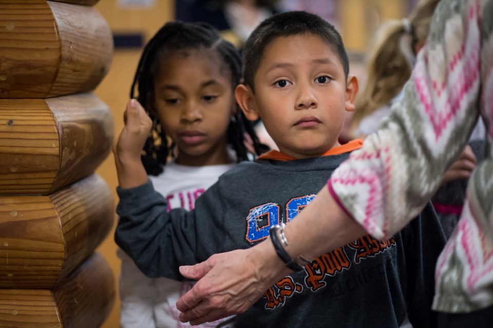 Thunder Hill Elementary School Kindergarten students tour HCLS East Columbia Branch.
