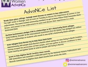AdvaNCe List July 18-25