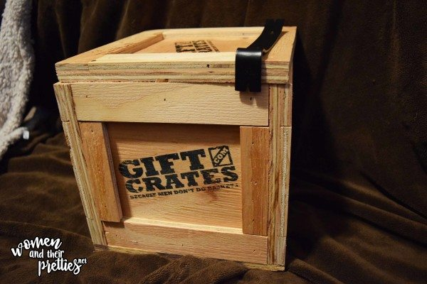 Men Dont Do Baskets Give Him A Wooden Gift Crate Filled