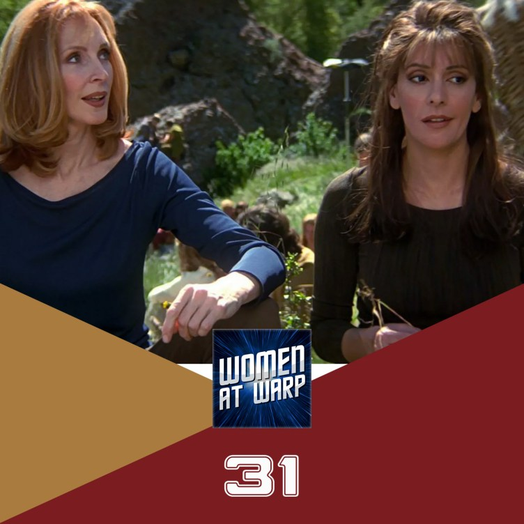 Beverly and Deanna in Insurrection looking skeptical