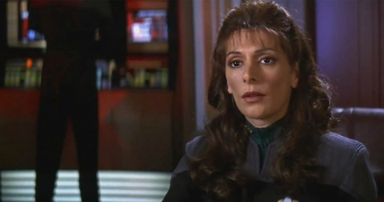 Still of Troi in First Contact
