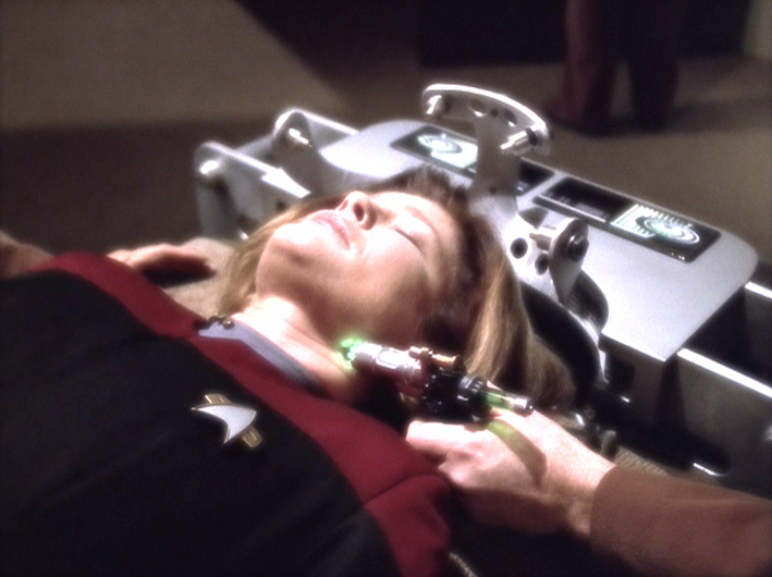 "Janeway being brainwashed in ""Workforce"""