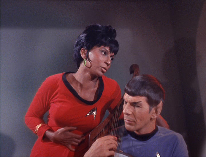 "Uhura sings to Spock in ""Charlie X"""