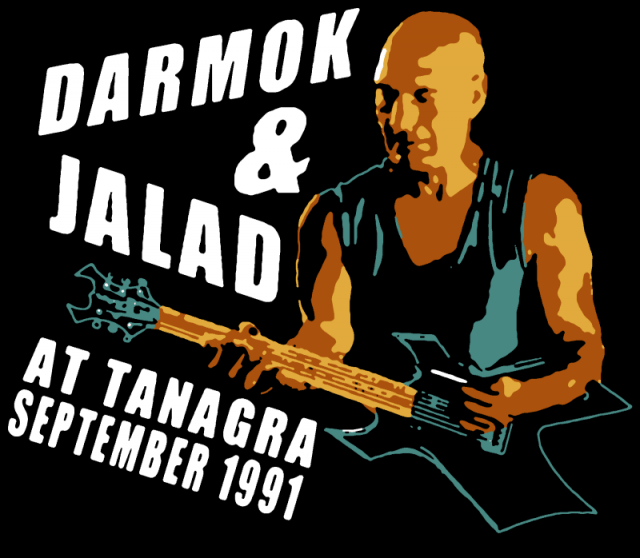 "spoof concert poster of the ""Darmok and Jalad"" tour"