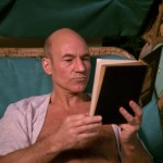 Picard reading on Risa