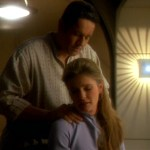Chakotay rubs Janeway's neck in Resolutions