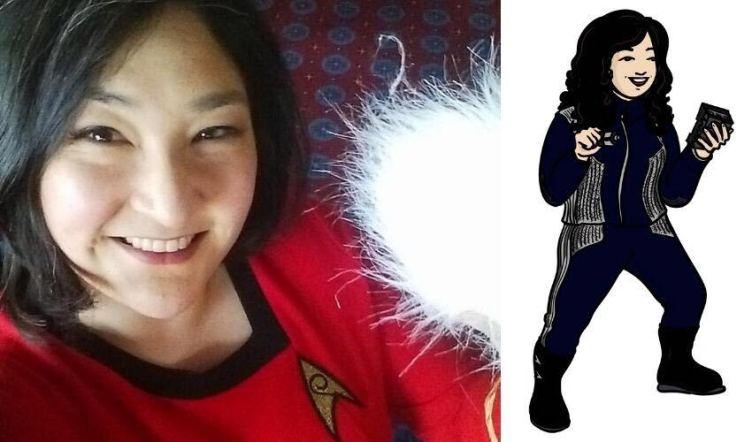 Sarah photo next to Trek avatar
