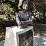Statue of Kathryn Janeway in Bloomington, Indiana