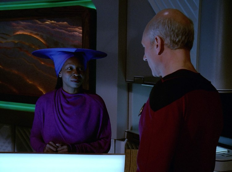 Guinan talks to Picard about her children