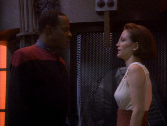 "Kira and Sisko face off in ""Emissary"""