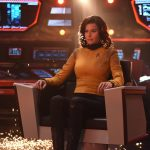 """Number One in the Enterprise Captain's Chair in """"Such Sweet Sorrow"""""""