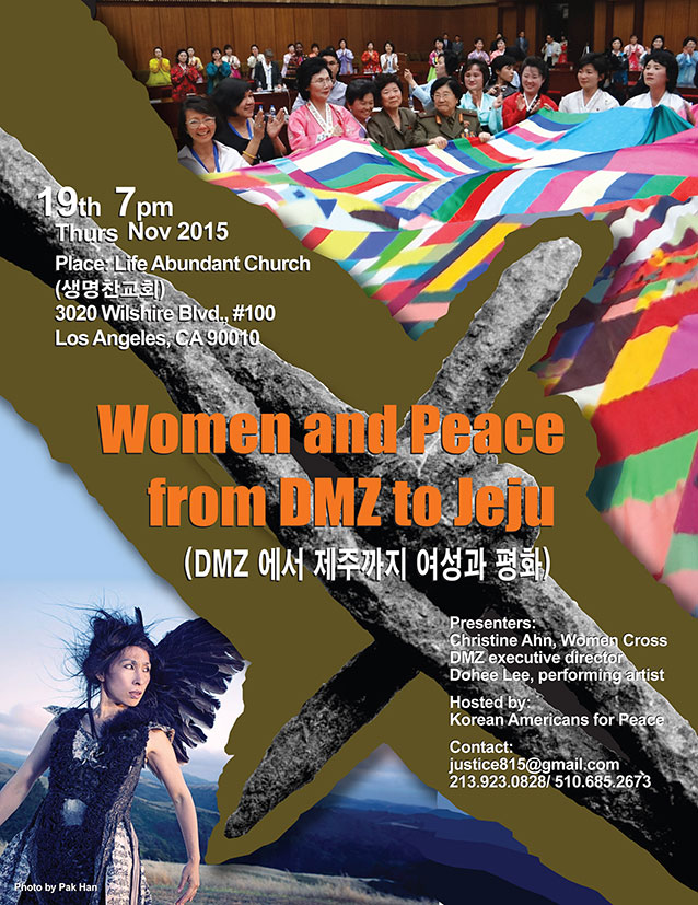 Women and Peace DMZ to Jeju-Nov2015